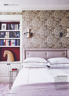 {two lovely things | in the bedroom : pretty print & pattern}....horse
