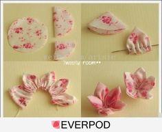 little girls, diy crafts, fabric flowers, cloth flowers, fabric painting, material flowers, flower tutorial, make flowers, cherry blossoms