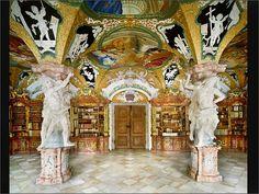 Biblioteca benedictina de la abadía de Metten (Alemania). ©Ahmet Ertug