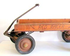 SALE Antique Wagon Wood Red Rider 1930s dreamt by NifticVintage, $175.00