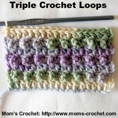 Triple Crochet Loops