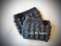 Free Crochet Boot Cuff Pattern | Bobble Boot Cuff Crochet Pattern $4.99 | Crochet or Knit :: Boot & Le ...