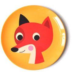 Fox melamine plate by Ingela Arrhenius.