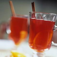 A slow cooker brings make-ahead ease to this recipe. The combination of cranberry, raspberry, and apple juices and a spark of lemon mark this recipe as a spirited mix--with or without brandy or rum/dcc