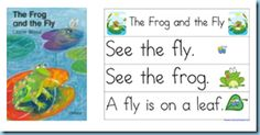 Book, The Frog and the Fly with Pocket Chart Printables
