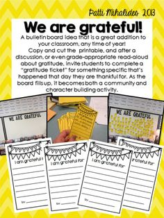 Free! A gratitude activity and bulletin board idea.  family times around the table?!!