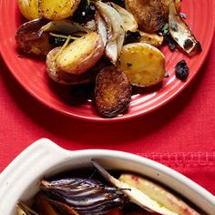 You'll love this cool-wether side dish: Roasted New Potatoes with Lemon, Oregano, andOlives. #recipeoftheday | Health.com