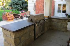 BBQ, solid gray/green color, square front edge. Done by James McGregor with McGregor Designs
