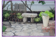 broken concret, garden idea, recycl concret, deck project