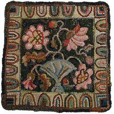 floral craft, color palettes, hook rug, rughook, colors, peoni pillow, peonies, floral, rug hooking