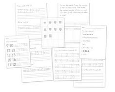 Numbers 1-20 Practice Sheets