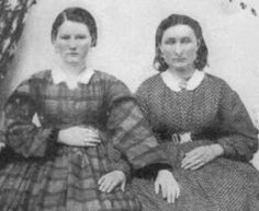 Charity McCorkle Kerr and Nannie Harris, relatives of William Quantrill's men. Killed in 1863 in the jail collapse. The jail was intentionally weakened by Union soldiers in many reports and collapsed; this killed 6 ladies,(all under the age of 20) and paralyzed a few more. Along with theft, murder of innocent civilians, torture by hanging, and many other atrocites daily perpetrated by Yankee soldiers intent on revenge, Quantrill finally realized the raid into Lawrence was necessary.