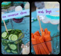 little mermaid party - fun undersea names for food