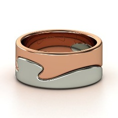 Puzzle Ring, Rose Gold Ring from Gemvara-Something like this in mens.