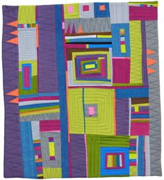 gorgeous improvisational quilt