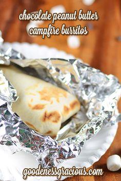 Chocolate Peanut Butter Campfire Burritos #Kidfriendly