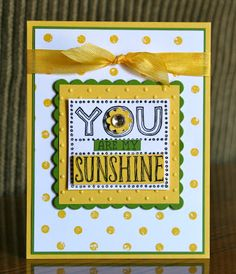 Stampin' Up! Card  by Krystal's Cards and More: You Are My Sunshine