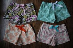 Pajama boxer shorts #sewing pattern -- so fun to use some of those bold printed cottons you've been stowing away!
