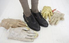"""""""Amazing shoe and hosiery inspiration by Brooklyn designer Keller. The gloves add the right amount of oddity for #Hannah inspiration"""" -Jenn Rogien"""