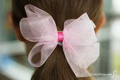 These DIY bow hair ties are easy to make! - CherylStyle