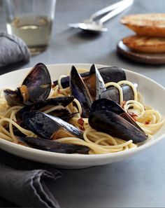 Pasta with Mussels // More Recipes Using Mussels: http://www.foodandwine.com/slideshows/mussels #foodandwine