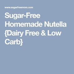 Sugar-Free Homemade