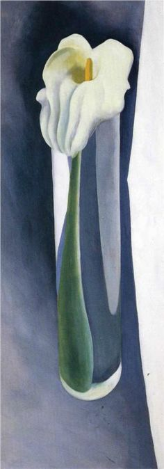 Georgia O'Keeffe. Calla Lily in Tall Glass