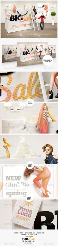 fashion flyer, flyer templat, sale flyer