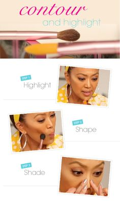 Highlight and contour like a professional makeup artist! #mallytips