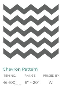 Everything's coming up Chevron and now Uppercase Living has Chevron and 4 other patterned vinyl designs to choose from! YEAH!!!