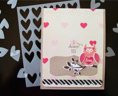 I Heart You Card by Danielle Flanders for Papertrey Ink (December 2013)