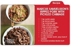 Double delish!  Marcus Samuelsson's Ripped Pork with Pickled Cabbage, only on mblog.macys.com