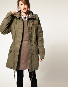 Fred Perry Green Parka
