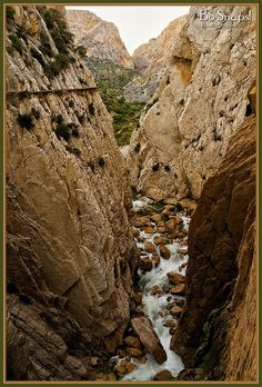 Chorro Canyon, El Caminito del Rey (English: The King's little pathway) , near Álora in the province of Málaga, Spain