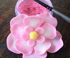 tutori, cakes decorations flowers, fondant, cake idea, bake, dusting gum paste flowers, cake decor, cakedecor, petal dust