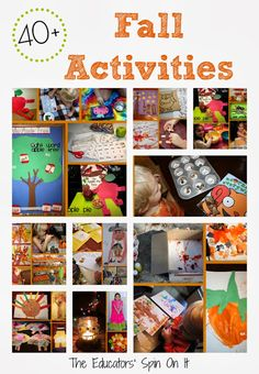 40+ Fall Activities from The Educators' Spin On It
