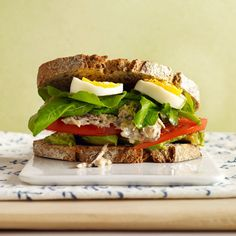 Sardine Salad Sandwich. I know that most people would not eat this but I love it and it is good for you.