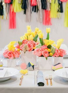 Gorgeous colors! Love Lines | Rue  {Image by Lisa Lefkowitz} #neon
