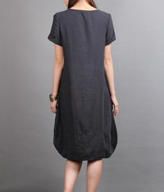 linen Chic short sleeved tunic dress by MaLieb on Etsy, $73.00