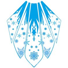 Another beautiful cape template, this time by katinka0921 on deviantART :) Elsa Cape Design by katinka0921