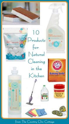 10 Products for Cleaning Naturally in the Kitchen with @Katie Schmeltzer Schmeltzer Keaton #ad #NaturallyHonest #PMedia ~ * THE COUNTRY CHIC COTTAGE (DIY, Home Decor, Crafts, Farmhouse)