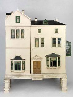 Vintage dollhouse outside
