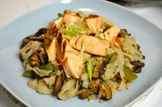 Pan-seared Salmon and Nasoya Veggie Stir-fry from Esculent Dreams!