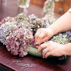 How to dry hydrangeas - great information!
