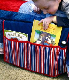 If your nightstand is cluttered with books and magazines, this bedside caddy is a stylish solution. Or make it for your child's bed, and they'll have room for storybooks, a flashlight, or even a sippy cup.