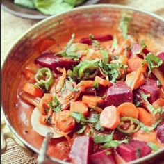 Go around the world and back with this recipe for spicy beets and carrot curry by One Tribe Gourmet.