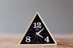 // vintage linden black forest geometric alarm clock