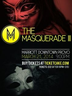 The largest masquerade party in #Utah is back! This year, the event is bigger and better than ever before. We are thrilled to be involved again this year! https://ticketcake.com/event/masquerade-iii/provo/2014-03-21