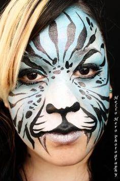 Facepainting makeup by Sandra E. Artist.