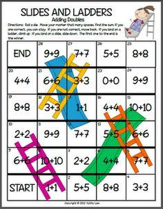 Free!! Slides & Ladders math fun...adding doubles & multiplying. Fun reinforcer.